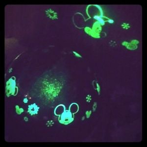 Mickey mouse rotating light show